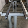 Edge belt conveyor with adjustable widths